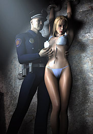 3D Bdsm Tryten - officer Mike felt his cock grow hard and press against the seam of his pants
