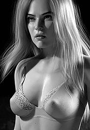 Descent into hell - He studies her nipples through her bra by Tryten