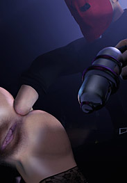 3D Bdsm Tryten - you had better keep those electrodes in your stretched fuckholes
